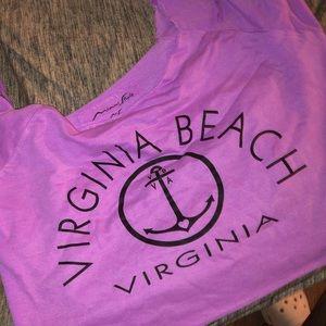 Tops - virginia beach long sleeved crop top